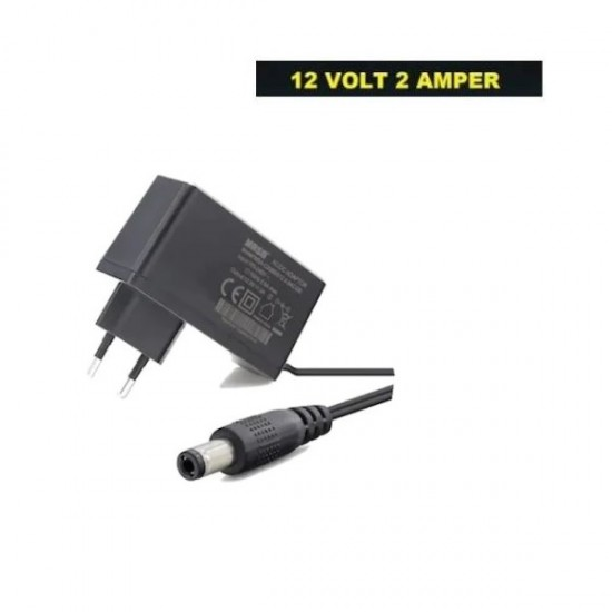 12 Volt 2 Amper Adaptör 5,5x2,5mm Jak