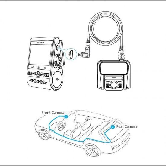 Viofo Araç Kameraları için Arka Kamera Bağlantı Kablosu - 6 Metre