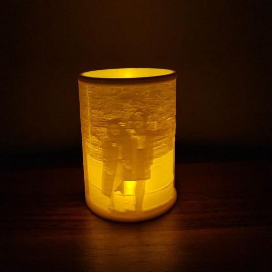 Kişiye Özel 3D Fotoğraflı LED Mumluk