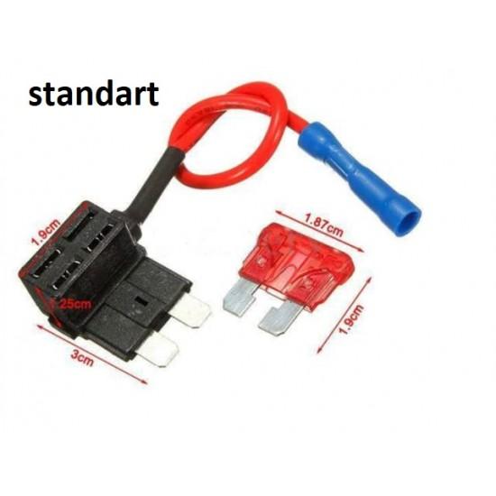 Fuse Tap Standart Tip Sigorta Kutusu Bağlantı Aparatı - 2 Adet
