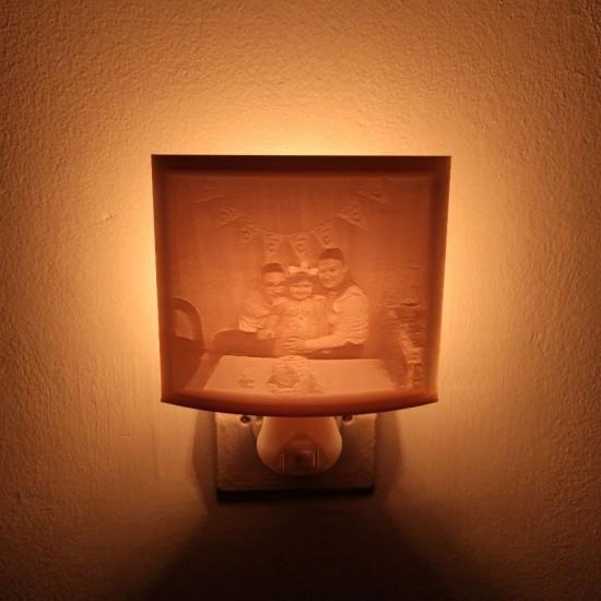 Kişiye Özel 3D Fotoğraflı Gece Lambası