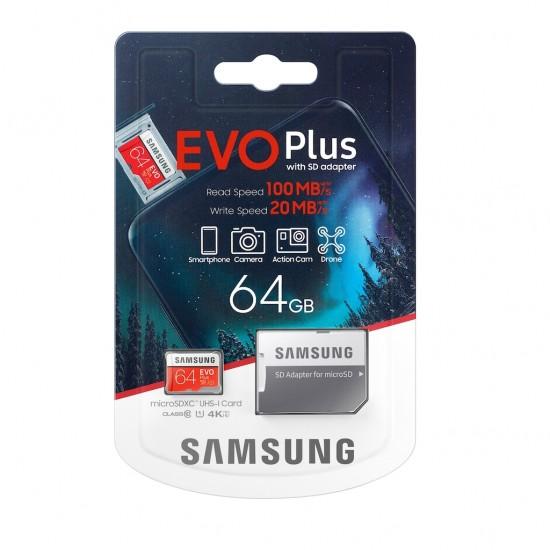 Samsung Evo Plus 64 GB Micro SD Hafıza Kartı MC64HA/TR