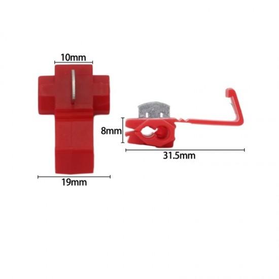 Kablo Kesmeden Kolay Elektrik Alma Aparatı 10 Adet - 0,5-1,00 mm Kırmızı