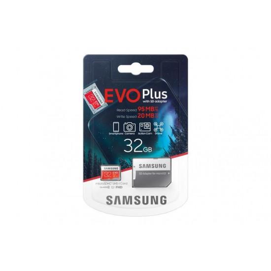 Samsung Evo Plus 32 GB Micro SD Hafıza Kartı MC32GA/TR